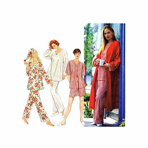 Simplicity 9250 Sewing Pattern Misses Sleepwear Robe Pajamas Nightcap Size 6 - 16 - Bust 30 1/2 - 38