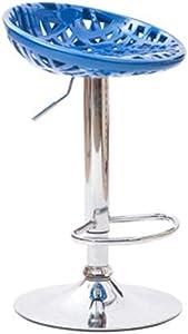 Zplyer Barhocker Aus Holz Metall Barhocker rutschfest Bequem Geeignet Für Bars Küchen Und Büros Barstuhl Drehlift Hocker Farbe Blau