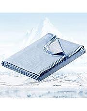 Avoalre Sommarfilt, Kylfilt Med Kallkänsleteknologi, Anti-kvalster Och Allergivänligt Kalltäcke För Bäddsoffa Resebarn Baby Skrivbord 130x170cm-Blå