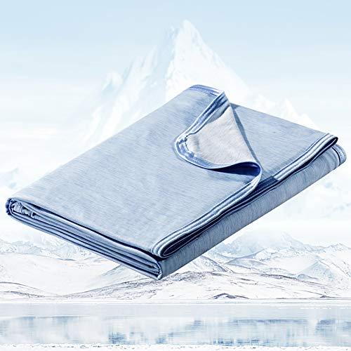 Avoalre 2 in 1 kühlende Kuscheldecke aus Baumwolle, Arc-Chill Mikrofaser Sommerdecke mit Q-Max 0,4 Selbstkühlende Decke, Weiche Kühldecke für Kinder & Erwachsene 150cmx200cm
