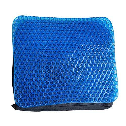 ZHANGYY Mode 3D Ice Pad Gel Kissen Quadrat Doppelschicht rutschfest weich und bequem für Auto Bürostuhl Rollstuhl nach Hause