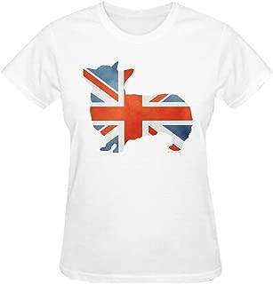 Union Jack Corgi Women's O-Neck T Shirts