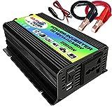 Galapar inversor de onda sinusoidal modificada inversor de corriente de alta frecuencia convertidor inversor del cargador de corriente para automóvil con 2. 1a clips de batería