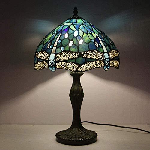 Tiffany Drop Light Blue Colorido Color Colorido Cuentas de cristal Lampshade E27 Antiguo Lámpara Dormitorio Sala de estar