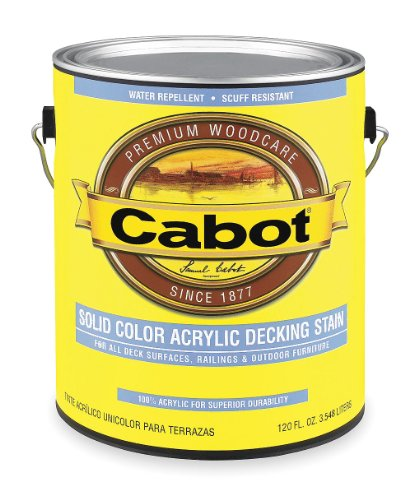 CABOT STAIN 11880 REDWOOD SOLID COLOR DECKING ACRYLIC STAIN W/ SURFACE PROTECTOR SIZE:1 GALLON.