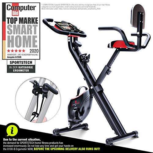 Sportstech X150 X Bike • 4-in-1 Home Trainer with Smartphone App &...