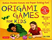 Origami Games for Kids Kit: Action-Packed Games and Paper Folding Fun! [48 Sheets of Folding Paper + Stickers + Easy-to-Assemble Game Pieces + 15 Exciting Games]