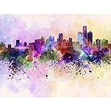 ArtzFolio Skyline of Detroit, City in Michigan, USA Peel & Stick Vinyl Wall