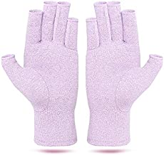 ZEPOHCK Arthritis Compressions Gloves, Relieve Pain for Rheumatoid, RSI, Carpal Tunnel, Hand Gloves for Dailywork, Hands and Joints Pain Relief for Women and Men (Purple, L)