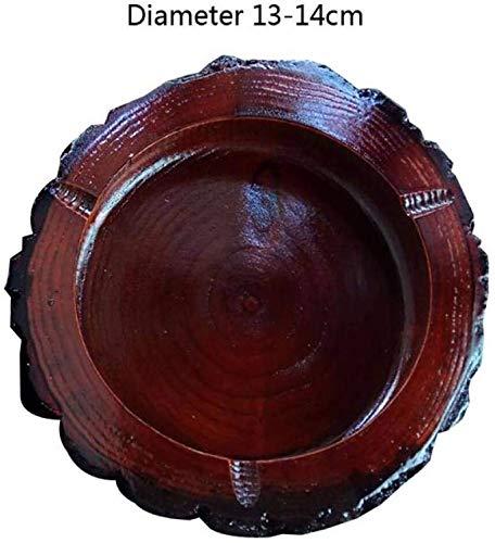 AMITD originele houten asbak DIY handgemaakte sigaret tabak roken asbak massief houten as opslag voor bar home office cadeau