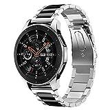 Diruite für Samsung Galaxy Watch 46mm/Gear S3 Armband Uhrenarmband,22mm Galvanisieren Edelstahl Metall Mit Doppelt Faltschließe Ersatzarmbänder-Sekundäre Farbe