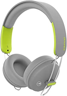 Wireless Bluetooth Headphones Foldable Bluetooth Headset Portable Bluetooth Earphone Deep Bass Noise Cancelling, with Mic for Home Office Online Class Travel Cellphone PC TV,Gray