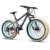 Xiaoyue 27-Gang-Mountainbikes, Profi 26 Zoll Adult Fat Tire Hardtail Mountainbike, Alurahmen Vorderachsfederung All Terrain Fahrrad, A lalay