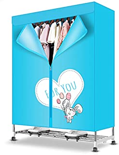 HONGGANJI Wardrobe Dryer High Capacity, Energy Saving Electric Clothes Dryer, Universal Casters, Digital Automatic Timer for Apartment House