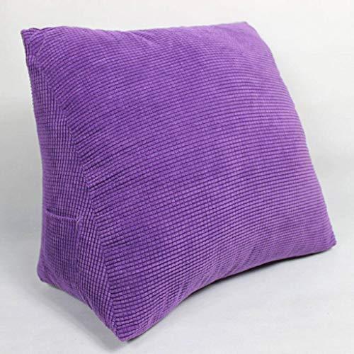 YAALO Ergonomisch driehoekig kussen met wighak, zacht en zacht, afneembaar, wasbaar, rugsteun met rugleuning voor slaapkamer