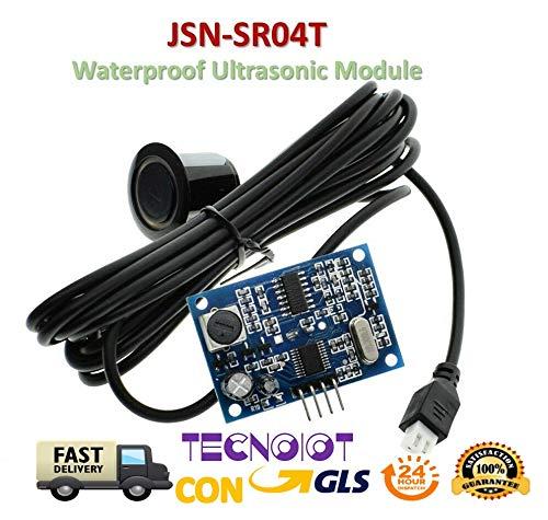 TECNOIOT JSN-SR04T Waterproof Ultrasonic Module Distance Measuring Transducer AJ-SR04M
