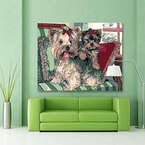 Puzzle 1000 Piezas Animal doméstico Perro Puzzle 1000 Piezas educa Juego de Habilidad para Toda la Familia, Colorido Juego de ubicación.50x75cm(20x30inch)