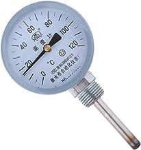 LOVIVER Indicador de Temperatura Del Dial Del Termómetro Bimetálico de 0~120 Grados para Agua/Aceite/Gas
