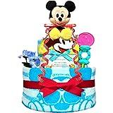 KanonBabys おむつケーキ 男の子 ミッキー ディズニー 出産祝い 2段 Sサイズ 3001