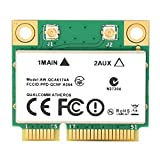 Tarjeta adaptadora de Red PCI-E, Tarjeta WiFi inalámbrica de Alta Velocidad, Bluetooth 4.1, para computadoras portátiles QCA6174A Mini PCI-E, Compatible con computadora, Reproductor de Publicidad