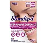 Blondépil Cire Froide Haute Performance Sourcils 32 Bandes - Lot de 3