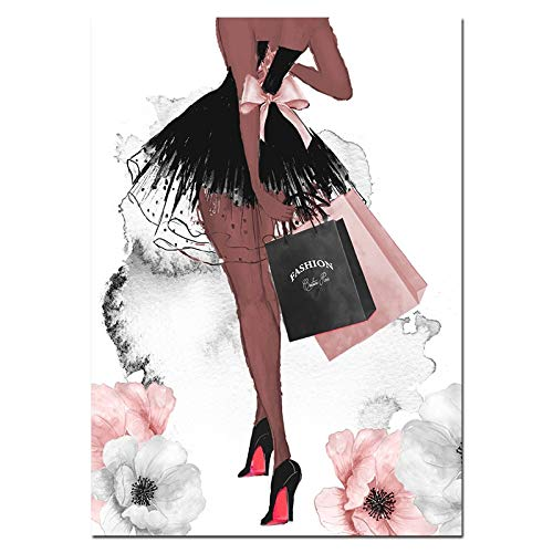 baodanla Geen frame Mode Wall Art Parfum Lippen Poster Nordic Print Hoge Hakken Canvas ng Vrouw Foto's voor Woonkamer Modern Decor