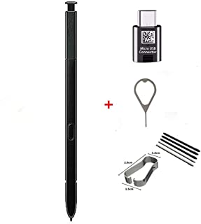 Galaxy Note9 Stylus Touch S Pen Replacement (Without Bluetooth) for Samsung Galaxy Note 9 with C-Type Adapter &Tips/Nibs+Eject Pin (Black)