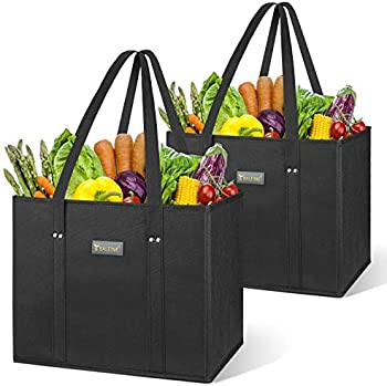 2-Pack Baleine Resuable Grocery Bags with Reinforced Bottom & Handles