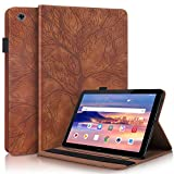 CaseFun Case for Huawei Mediapad T5 10 Slim PU Leather Tree
