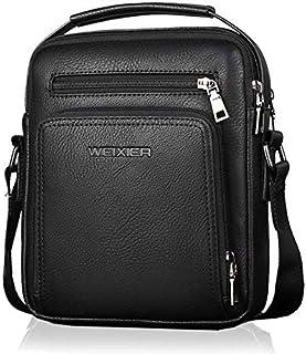 WEIXIER Casual Men Travel Business Crossbody Bags Pu Leather Messenger Bag Designer Men Handbag Top Quality Male Shoulder Bag