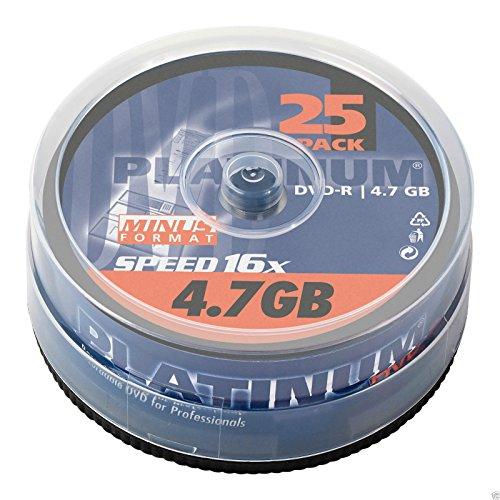Platinum DVD-R 25er Spindel 16x Speed DVD-Rohlinge 100302