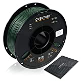 OVERTURE PETG 3D Printer Filament 1.75mm with 3D Build Surface, 1kg Spool (2.2lbs), Dimensional Accuracy +/- 0.05mm, Fit Most FDM Printers (Army Green)