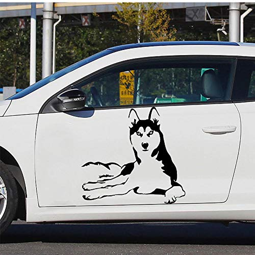 MRQXDP Auto Lichaam Husky Auto Decal Decoratie Sticker voor Auto Side Spiegel Achteruitblik DIY Uw Eigen Gepersonaliseerde Auto 30x32cm muurschilderingen Wallpaper pared Slaapzaal Decoratie