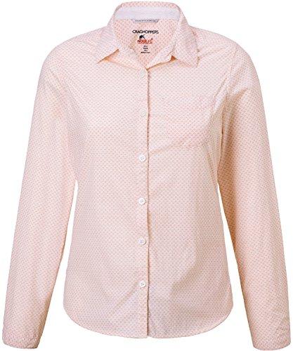 Craghoppers W NosiLife Adoni Langarm Bluse Pink, Damen T-Shirt, Größe 46-20 - Farbe Blossom Pink