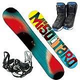BXB(ビーエックスビー) スノーボードMISOTARO3点セット スノーボード ビンディング ブーツ (ボードRED146cm, ブーツ26cm)