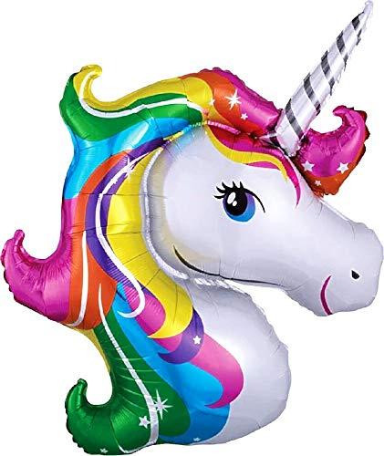 Eenhoornballon - multi - regenboog - verjaardag - 47 x 29 cm - decoraties - feest - jubileum - decoraties - origineel cadeau-idee cosplay
