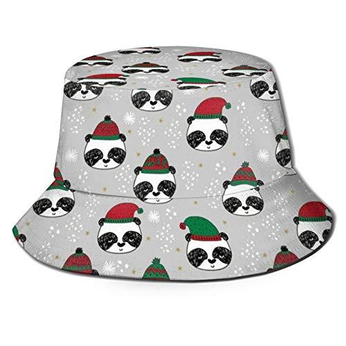 136 Felice Pasqua Inverno Panda Bucket Cappello Reversibile Pescatore Cap per Uomini Donne