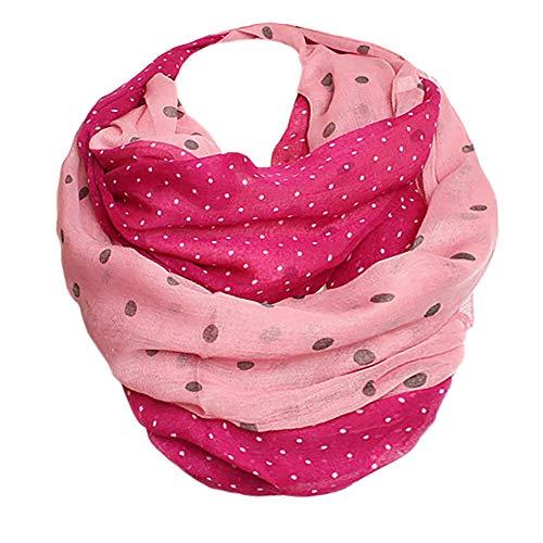 Glamexx24 XXL stippen - print loop sjaal warme en zachte sjaal kleurverloop doek dames