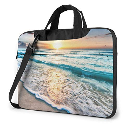 Ocean Sunrise Unisex Laptop Bag Messenger Shoulder Bag For Computer Briefcase Carrying Sleeve