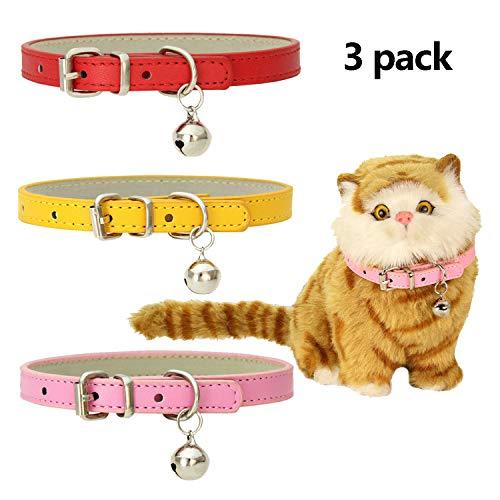 GingerUP Collare per Gatto Riflettente con Campanella Sicuro Colori Misti Collare Rimovibile per Gatto Collare per Animale Domestico Nylon
