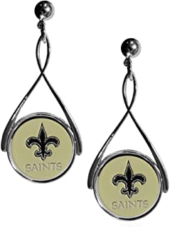 Siskiyou NFL New Orleans Saints Tear Drop Earrings