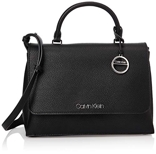 Calvin Klein Sided Top Handle, Cartables femme, Noir...