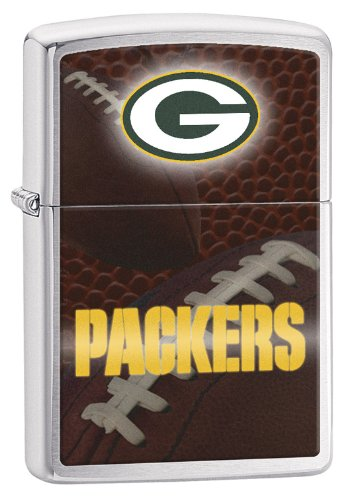 Zippo Pocket Lighter NFL Green Bay Packers Brushed Chrome Pocket Lighter -  Zippo Manufacturing Company, 200-CI012554