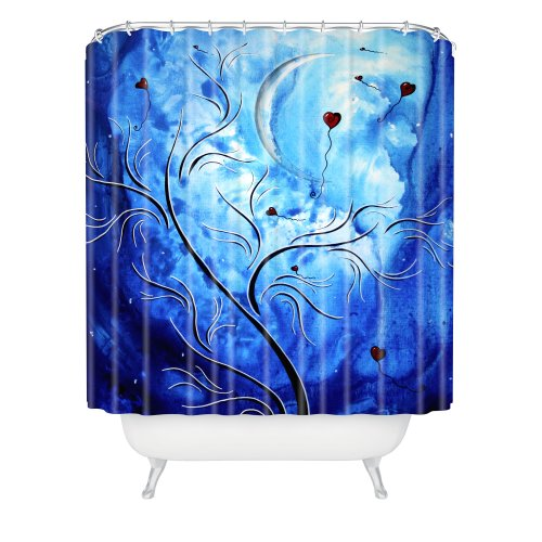 Moonlight Blue Tree Shower Curtain