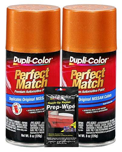 Dupli-Color Orange Mist (M) Exact-Match Automotive Paint - 8 oz, Bundles Prep Wipe (3 Items)