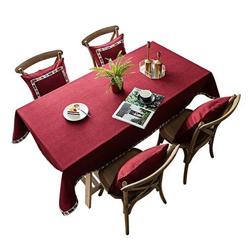 XDLUK Tischdecke Leinenoptik Rechteckiges Modern Simple Fleckenschutz Tischtuch Abwaschbar Tischwäsche,140x180cm