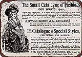 EstherMi19 1895 - Cartel de Metal para decoración del hogar, diseño Vintage con Texto en inglés Fashion Catalogie, para Habitaciones Infantiles, decoración de Garaje, Idea de Regalo, 20 x 30 cm