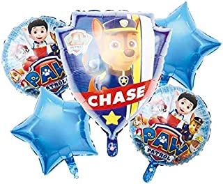 Party Propz Paw Patrol Foil Balloons for Birthday Decoration Set of 5