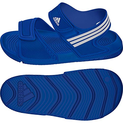 adidas Performance Akwah 9 C, Unisex-Kinder Dusch- & Badeschuhe, Blau (Eqt Blue S16/Ftwr White/Ftwr White), 32 EU (13.5 Kinder UK)