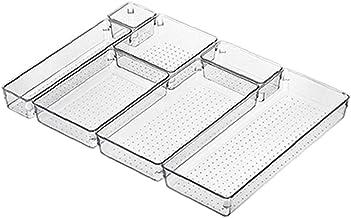 Tiroir Organisateur Set clair cosmétiques tiroir Boîte à usages multiples maquillage Plateaux de rangement pour bureau Cui...